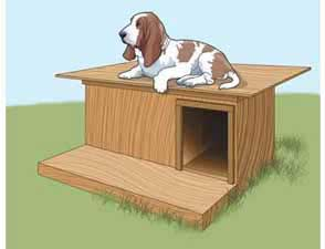 More Free Dog House Plans to BuildSimple Flat Roof Dog House